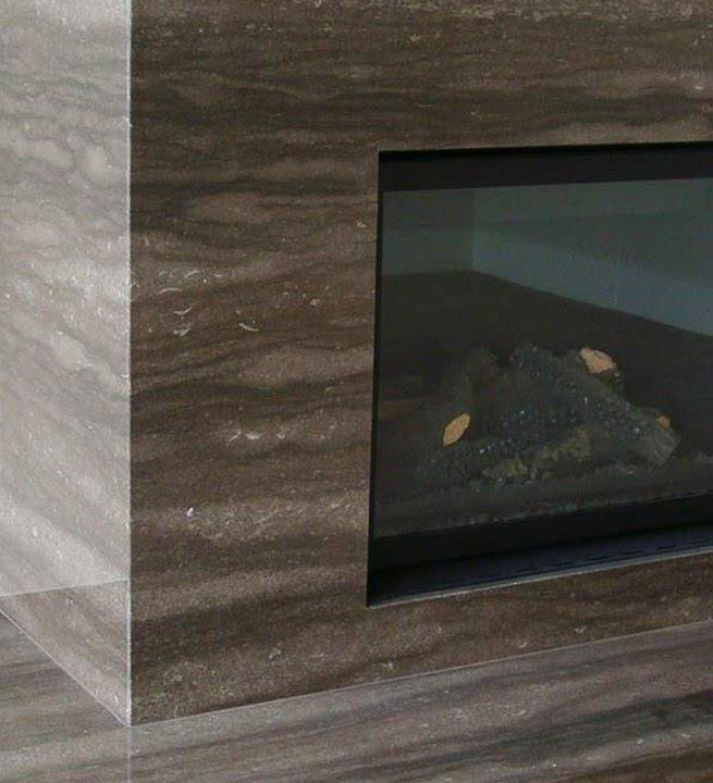 Dekorativni kamen za kamin kamniti Furnir in Granit