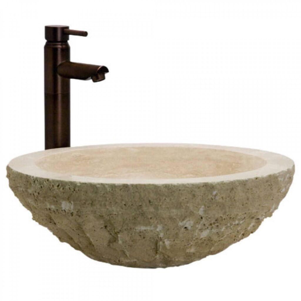 Kamnit kopalniški umivalnik iz Travertina