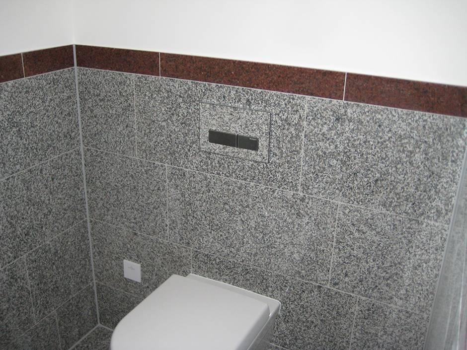 Kopalniška stenska obloga iz Granita New Rardo in Rianshan Red
