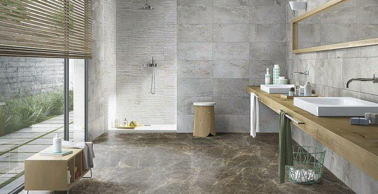 Moderna svetla kopalnica Bayulan Cream