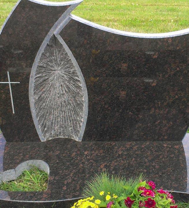 Nagrobni spomenik črni