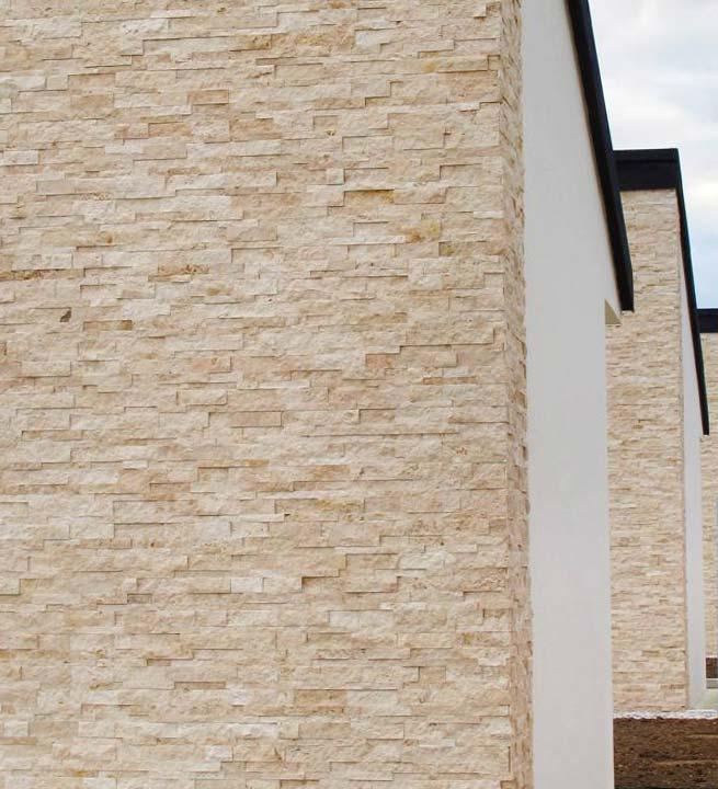 Svetel dekorativni kamen rustika za oblaganje fasad